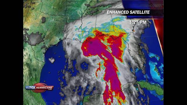 Image of Hurricane Cindy shown on myFox news.